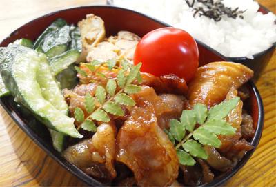 豚肉と筍の甘辛煮弁当