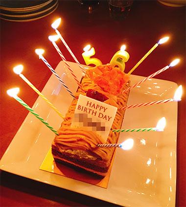 お誕生日のお持ち寄りパーティー