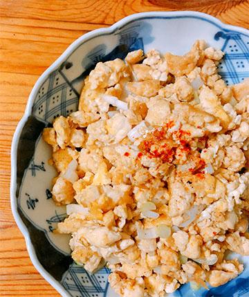 シンプルな煎り豆腐
