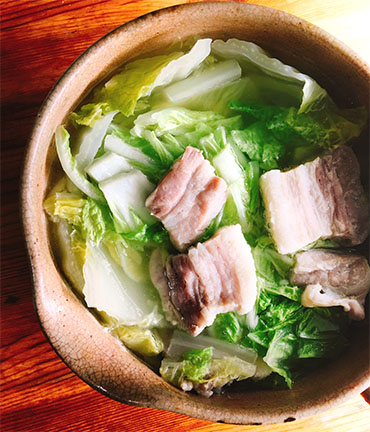 塩豚と白菜の煮込み