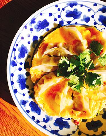 びっくりな美味しさのオム餃子
