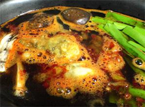 牡蠣の豆板醤鍋